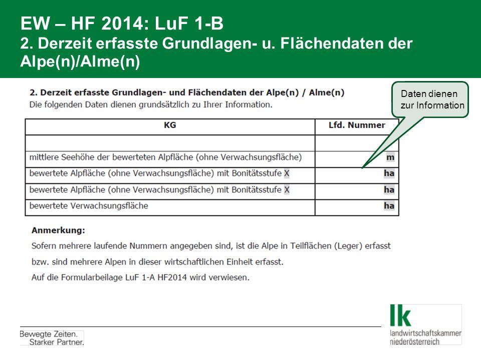 EW – HF 2014: LuF 1-B 2. Derzeit erfasste Grundlagen- u