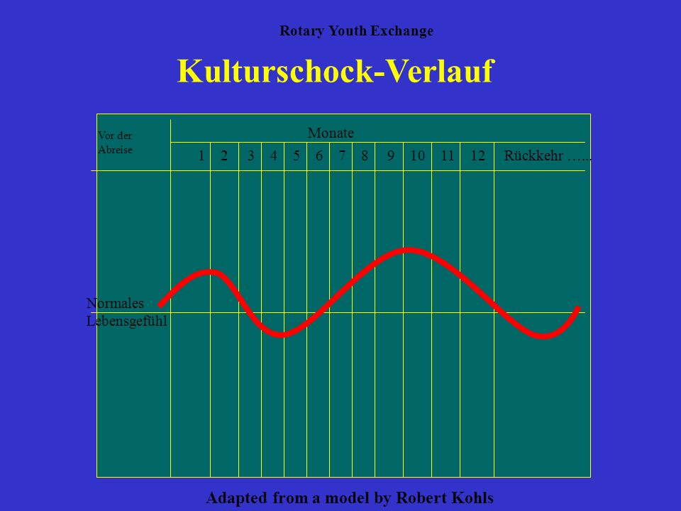 Kulturschock-Verlauf