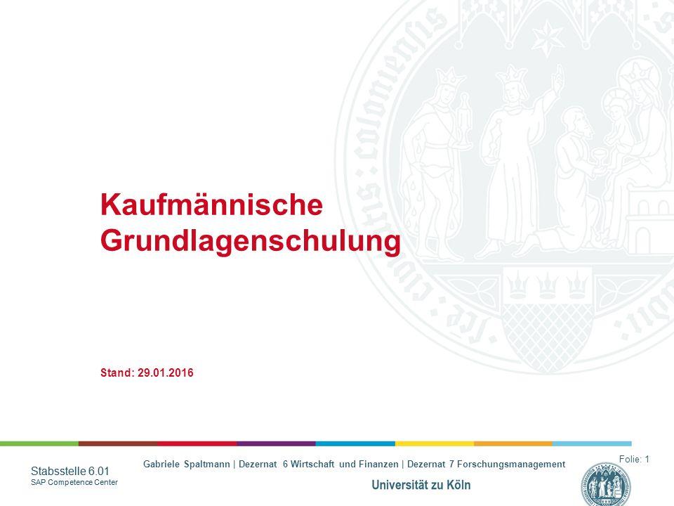 Kaufmännische Grundlagenschulung Stand: 29.01.2016