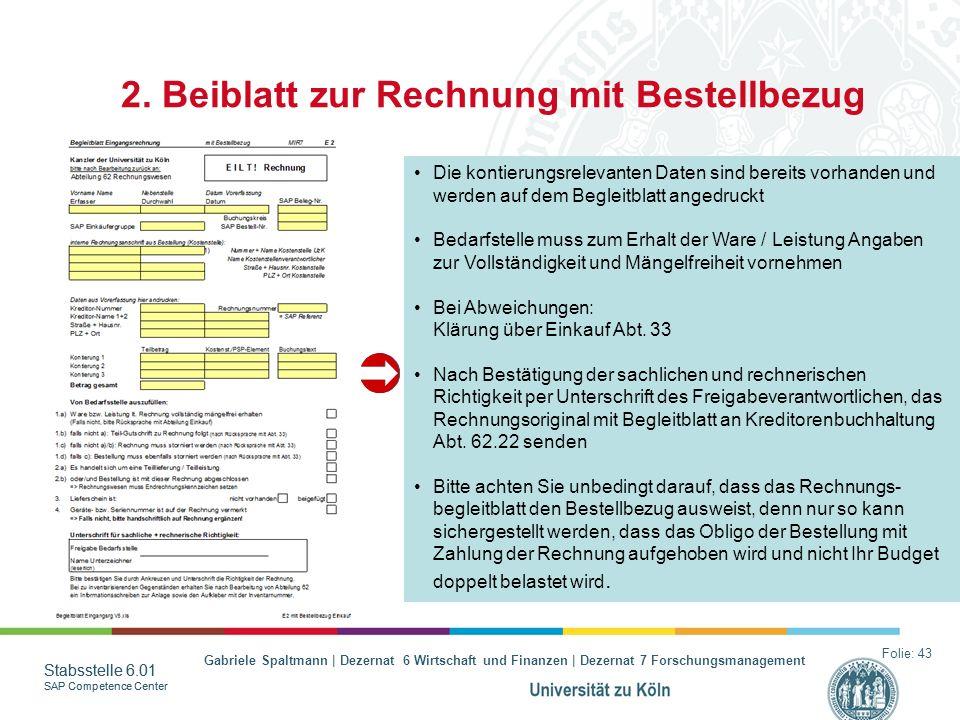 2. Beiblatt zur Rechnung mit Bestellbezug