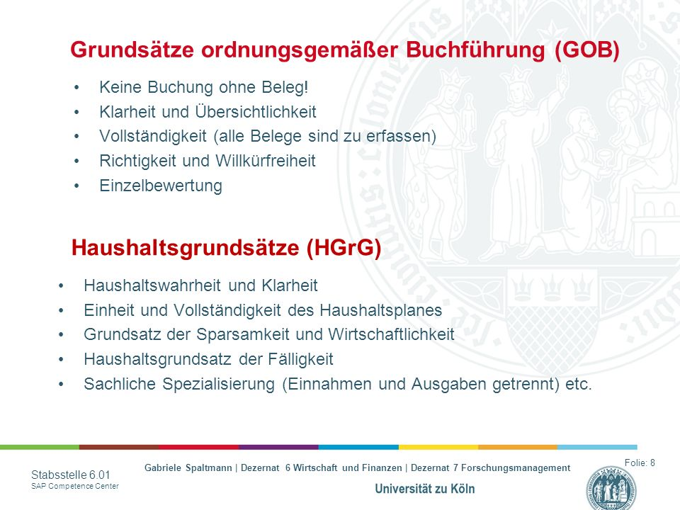 Grundsätze ordnungsgemäßer Buchführung (GOB)