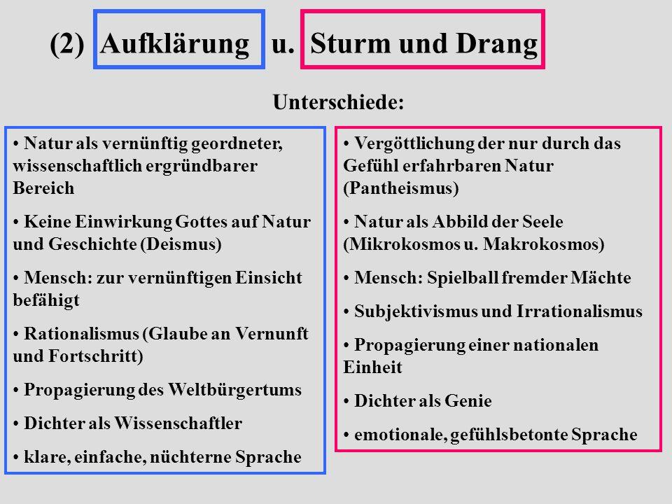 (2) Aufklärung u. Sturm und Drang