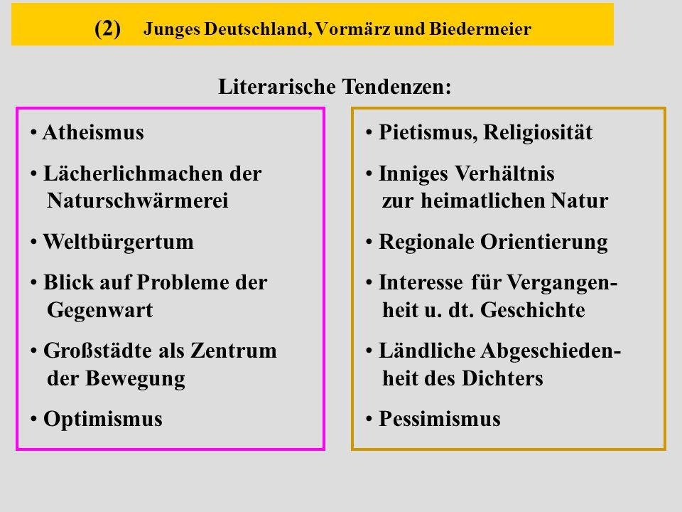 (2) Junges Deutschland, Vormärz und Biedermeier