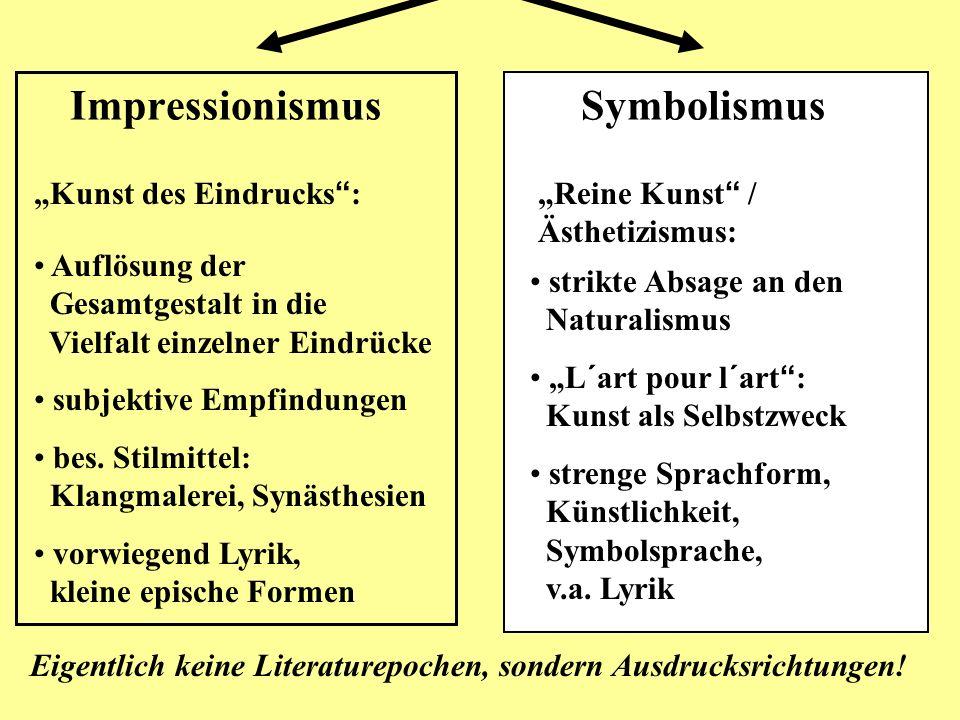 Impressionismus Symbolismus