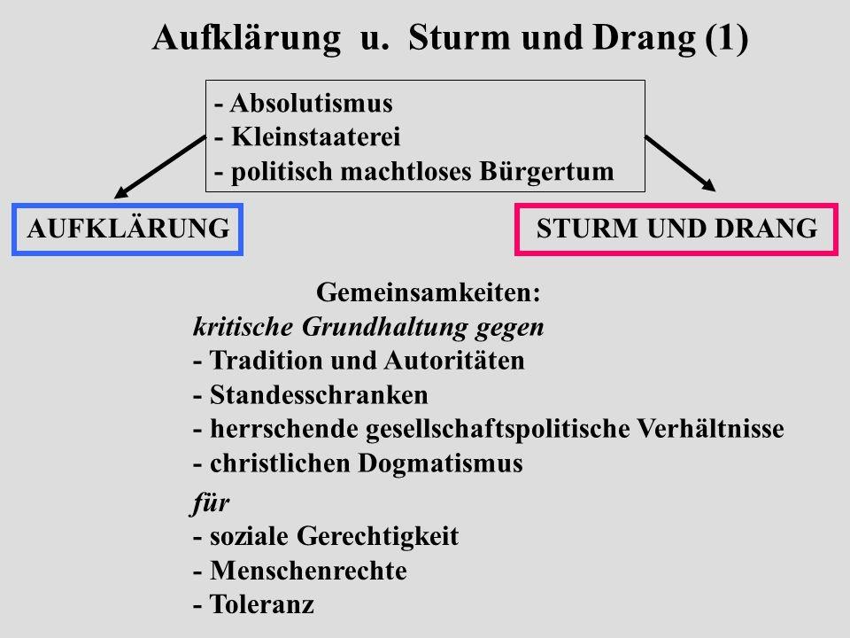 Aufklärung u. Sturm und Drang (1)