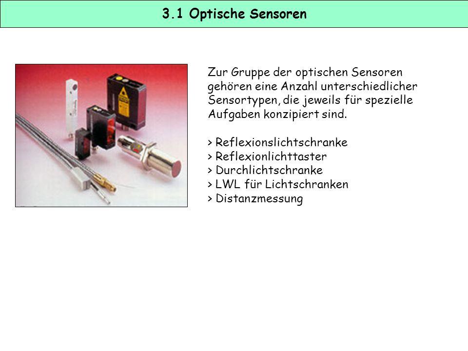 3.1 Optische Sensoren Zur Gruppe der optischen Sensoren