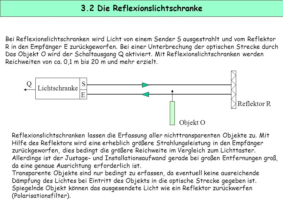 3.2 Die Reflexionslichtschranke