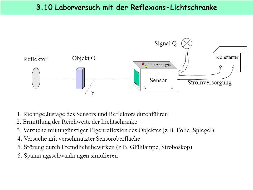 3.10 Laborversuch mit der Reflexions-Lichtschranke