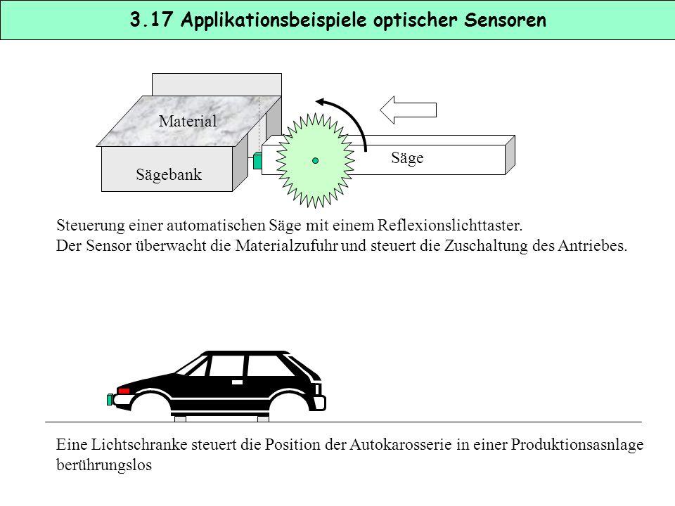 3.17 Applikationsbeispiele optischer Sensoren