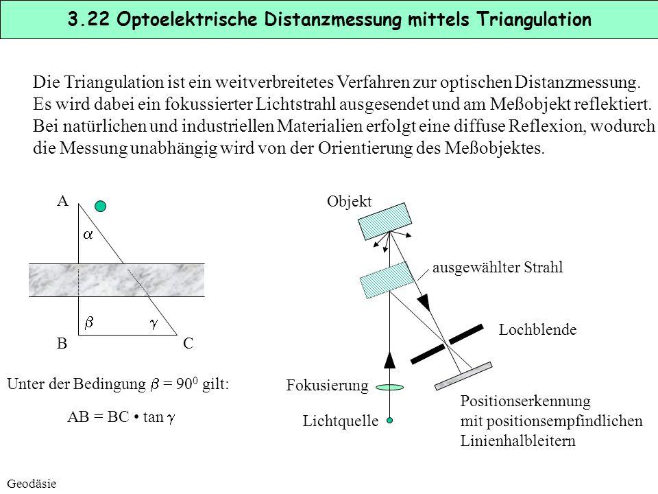 3.22 Optoelektrische Distanzmessung mittels Triangulation
