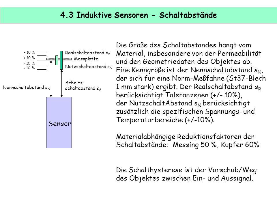 4.3 Induktive Sensoren - Schaltabstände