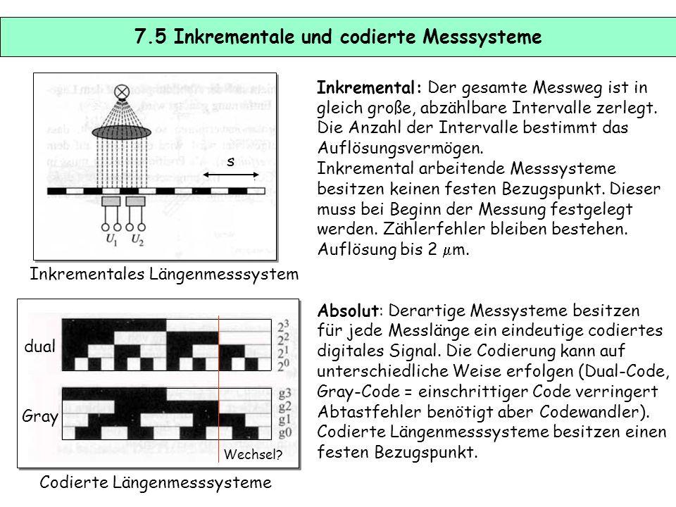 7.5 Inkrementale und codierte Messsysteme