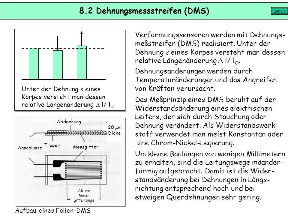8.2 Dehnungsmessstreifen (DMS)