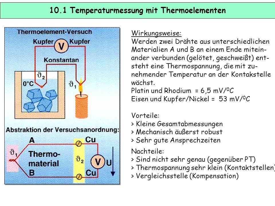 10.1 Temperaturmessung mit Thermoelementen