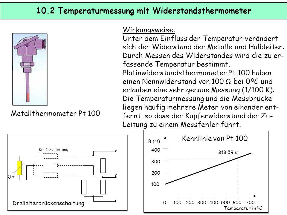 10.2 Temperaturmessung mit Widerstandsthermometer