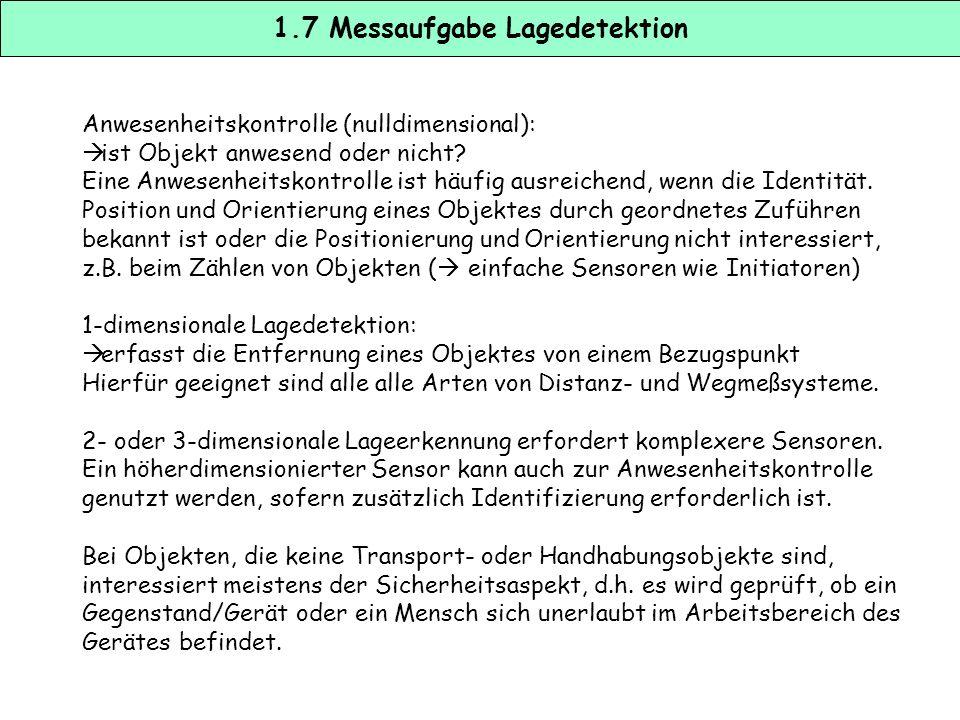 1.7 Messaufgabe Lagedetektion