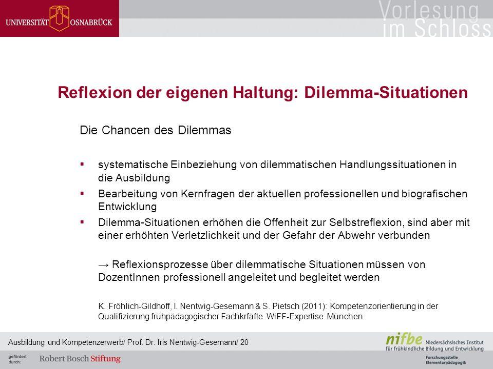 Reflexion der eigenen Haltung: Dilemma-Situationen