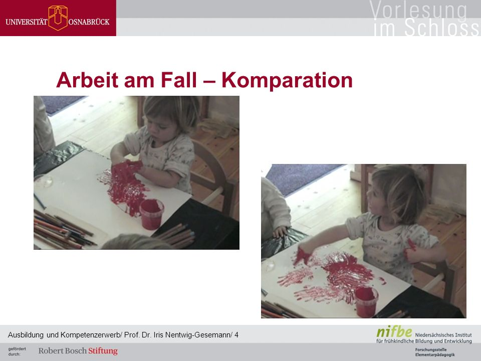 Arbeit am Fall – Komparation