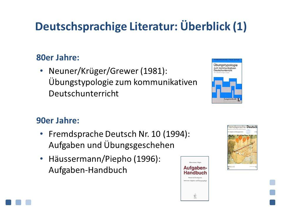 Deutschsprachige Literatur: Überblick (1)