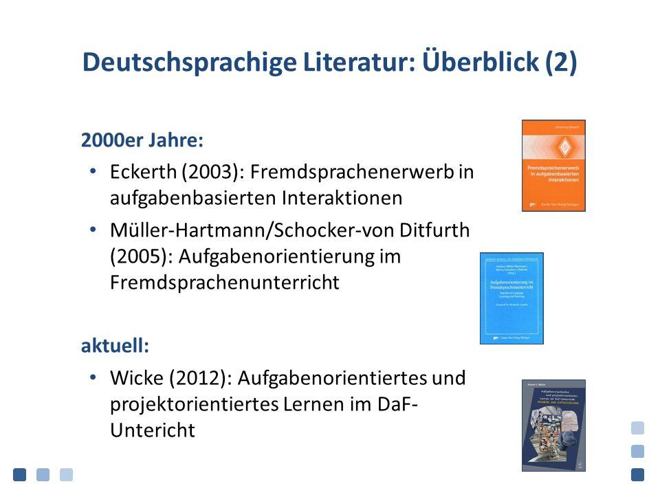 Deutschsprachige Literatur: Überblick (2)