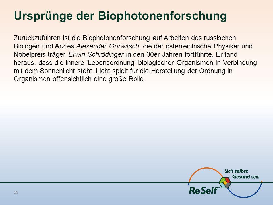 Ursprünge der Biophotonenforschung