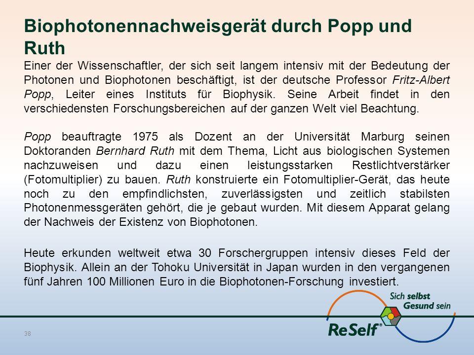 Biophotonennachweisgerät durch Popp und Ruth