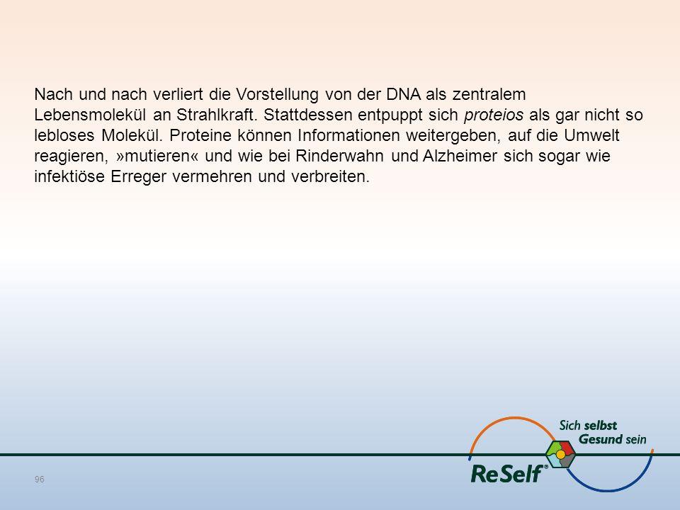 Nach und nach verliert die Vorstellung von der DNA als zentralem Lebensmolekül an Strahlkraft.