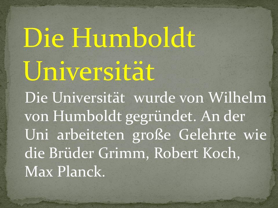 Die Humboldt Universität