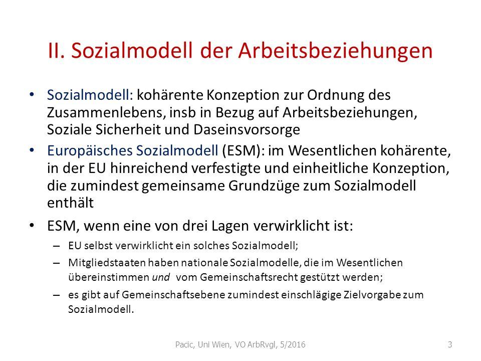 II. Sozialmodell der Arbeitsbeziehungen
