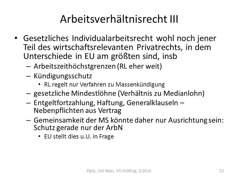 Arbeitsverhältnisrecht III
