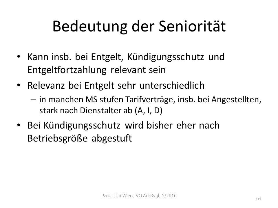 Bedeutung der Seniorität