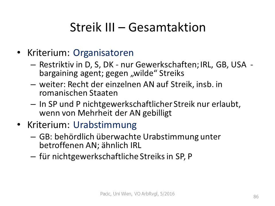 Streik III – Gesamtaktion