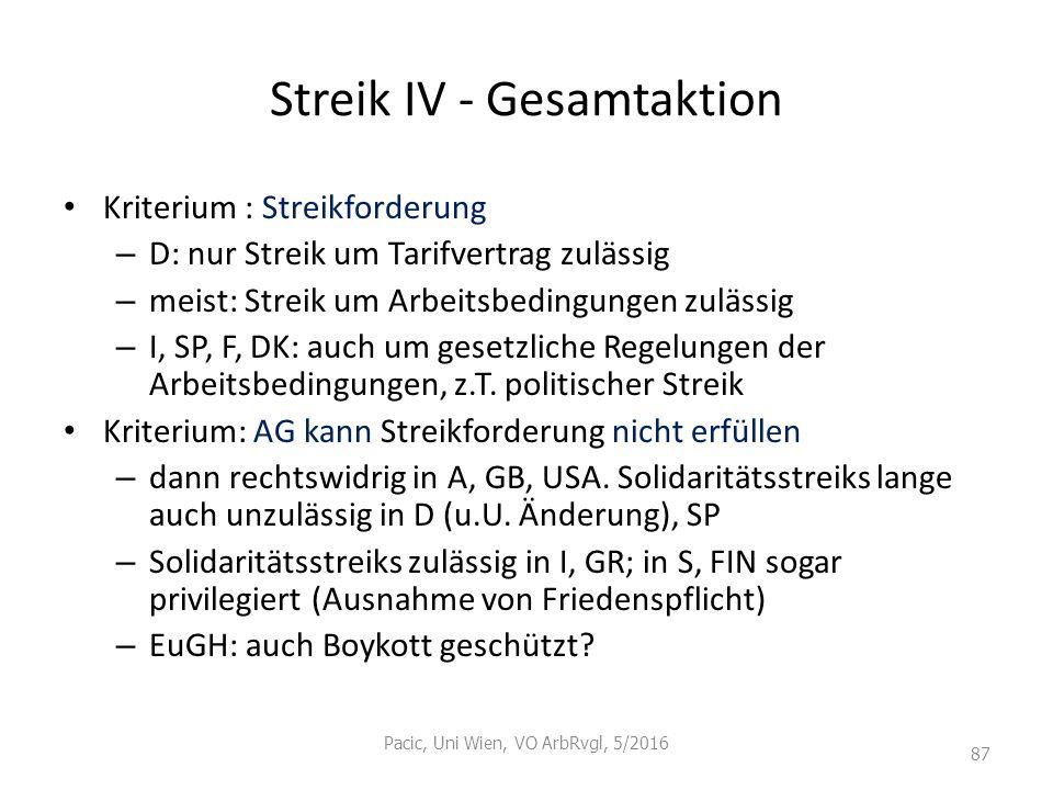 Streik IV - Gesamtaktion
