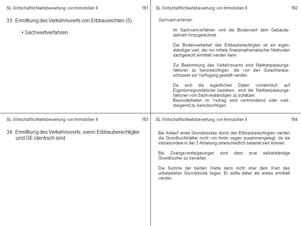 33. Ermittlung des Verkehrswerts von Erbbaurechten (5)