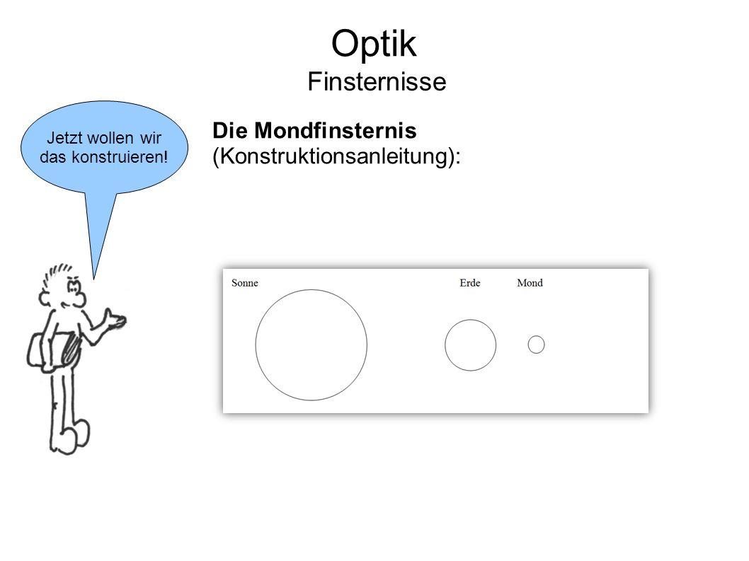 Optik Finsternisse Die Mondfinsternis (Konstruktionsanleitung):