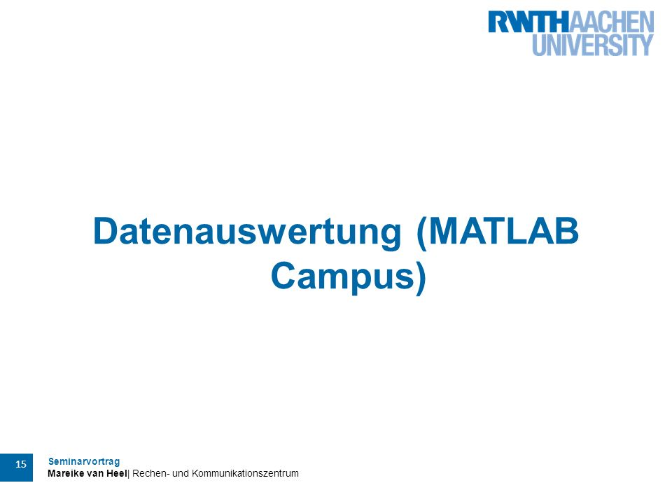 Datenauswertung (MATLAB Campus)