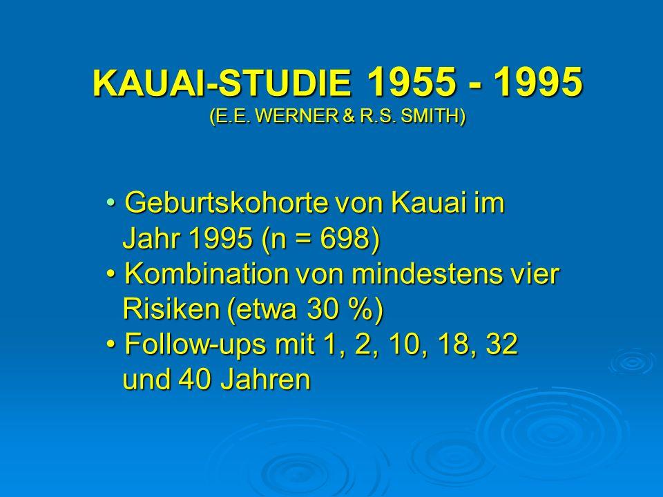 KAUAI-STUDIE 1955 - 1995 (E.E. WERNER & R.S. SMITH)