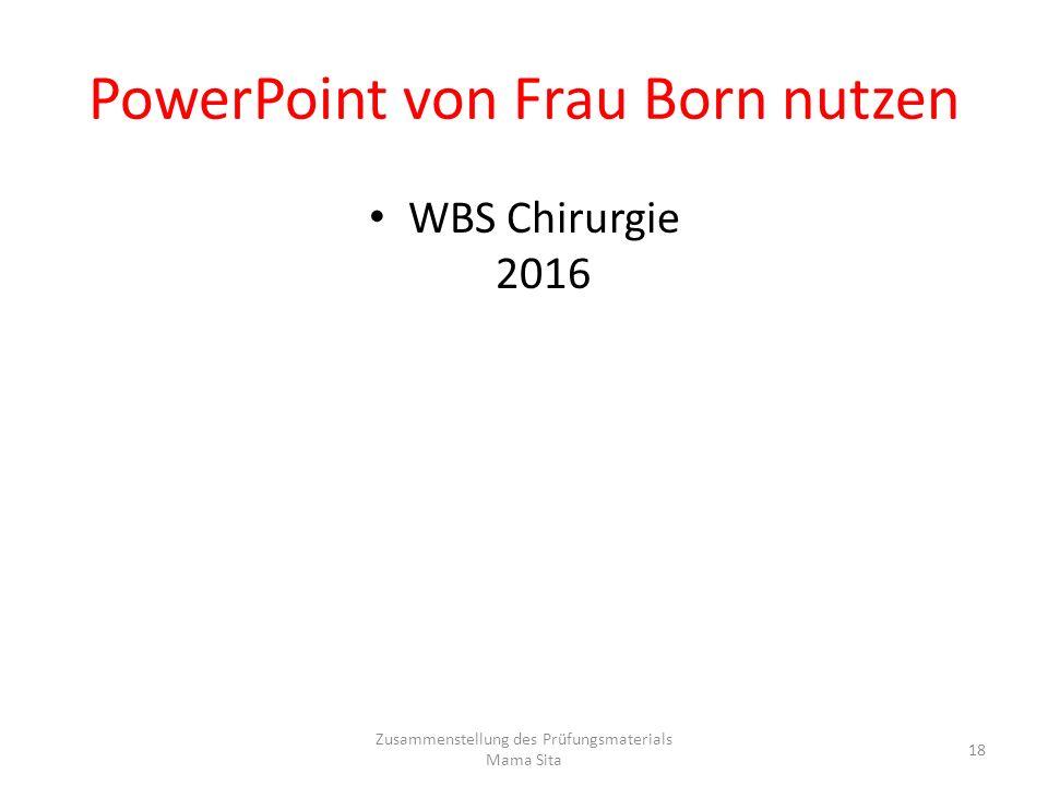 PowerPoint von Frau Born nutzen