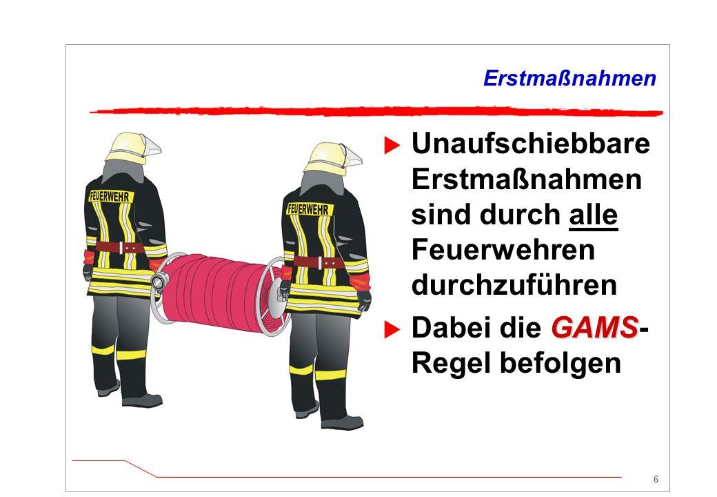 Dabei die GAMS-Regel befolgen