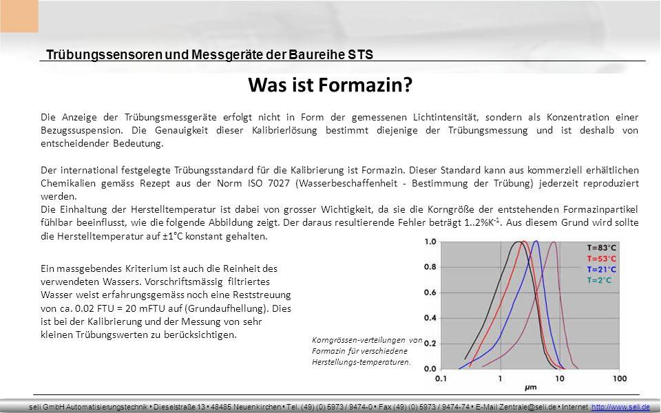 Was ist Formazin Trübungssensoren und Messgeräte der Baureihe STS