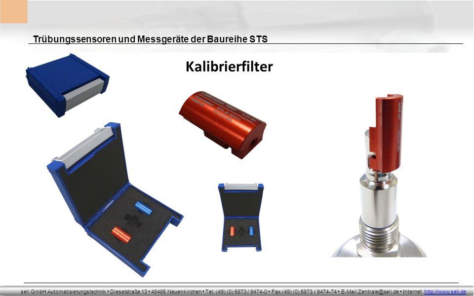 Kalibrierfilter Trübungssensoren und Messgeräte der Baureihe STS