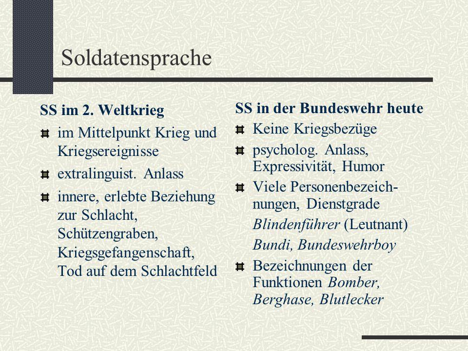 Soldatensprache SS im 2. Weltkrieg