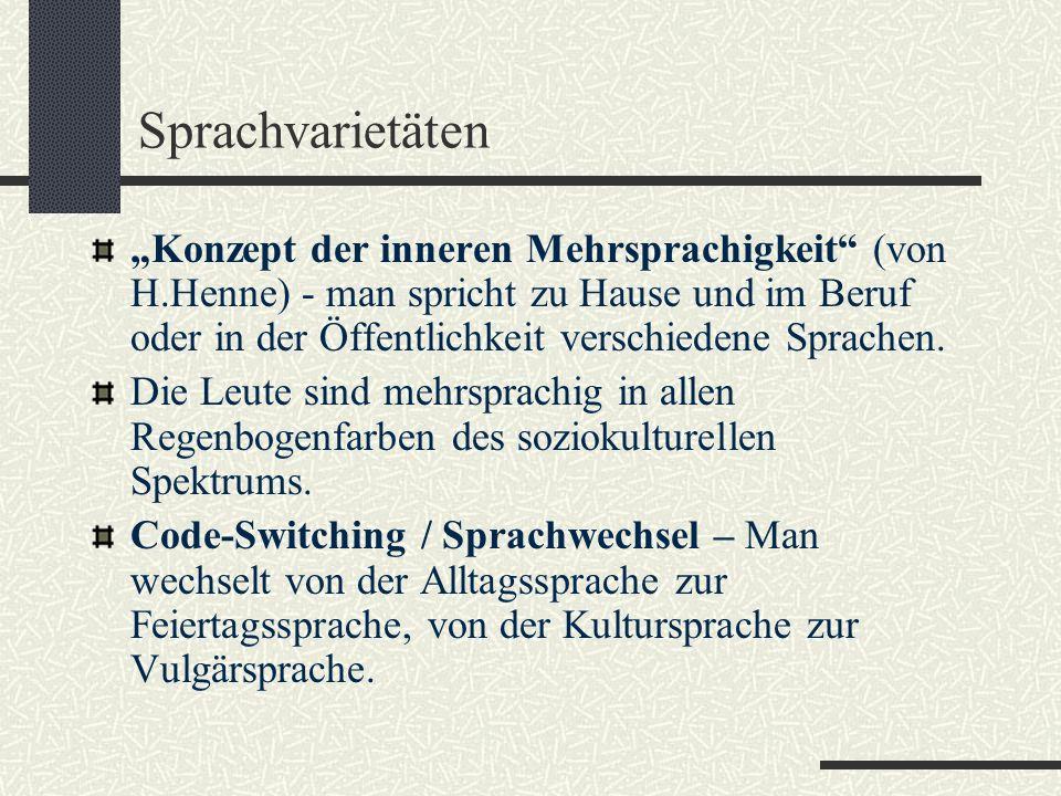 Sprachvarietäten