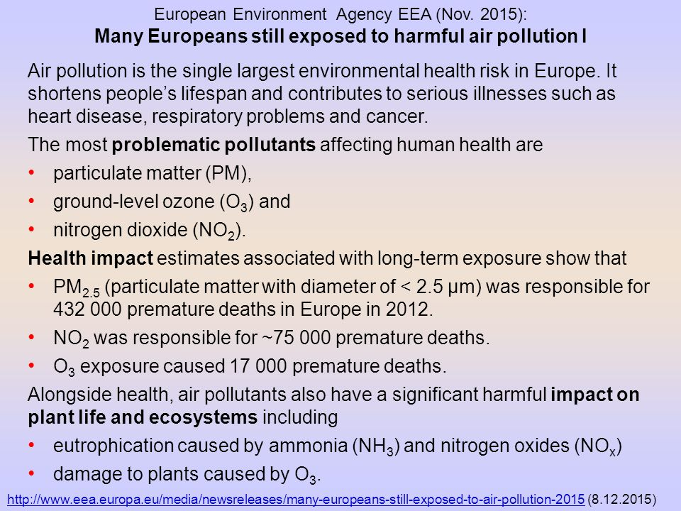 Many Europeans still exposed to harmful air pollution I
