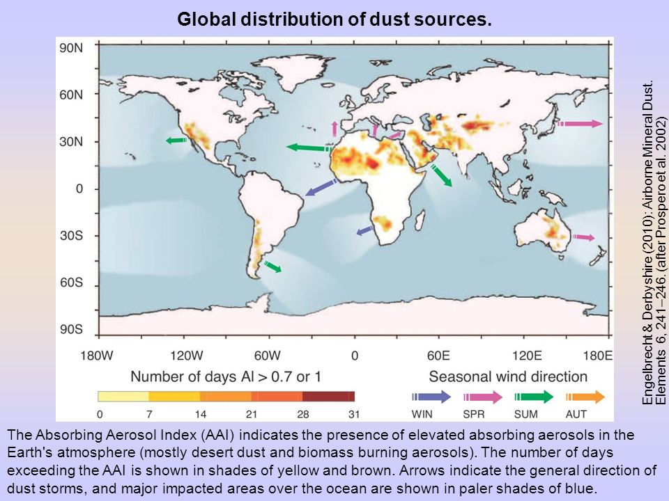 Global distribution of dust sources.