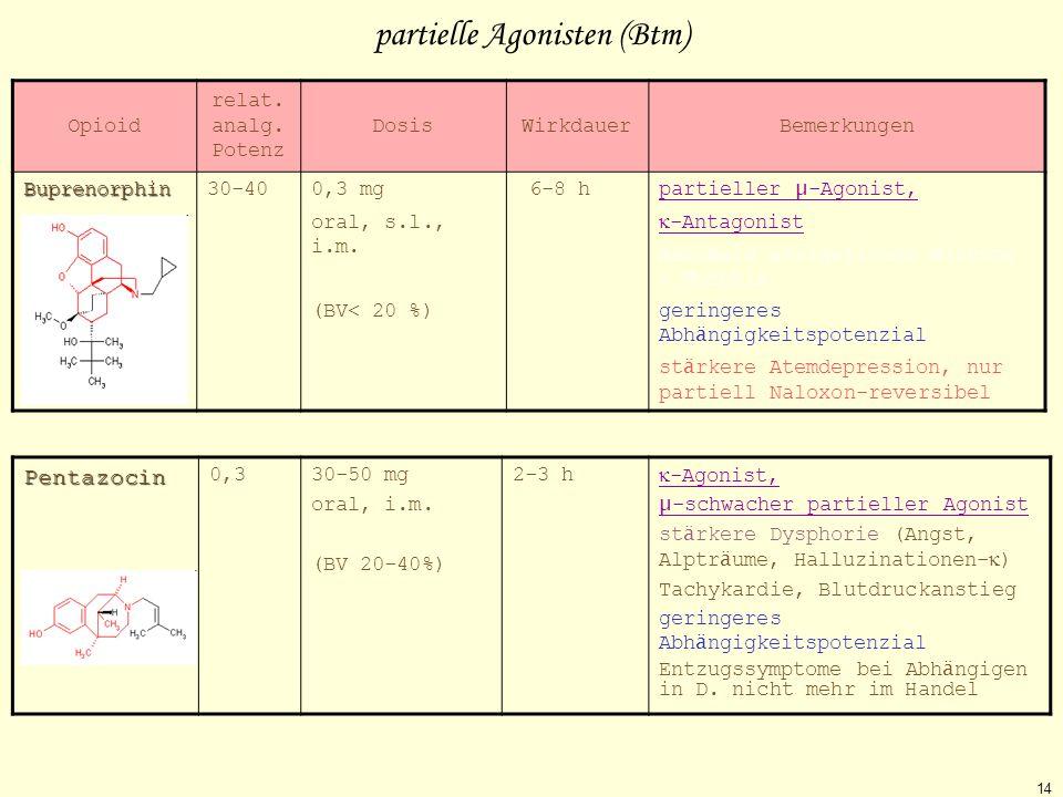 partielle Agonisten (Btm)