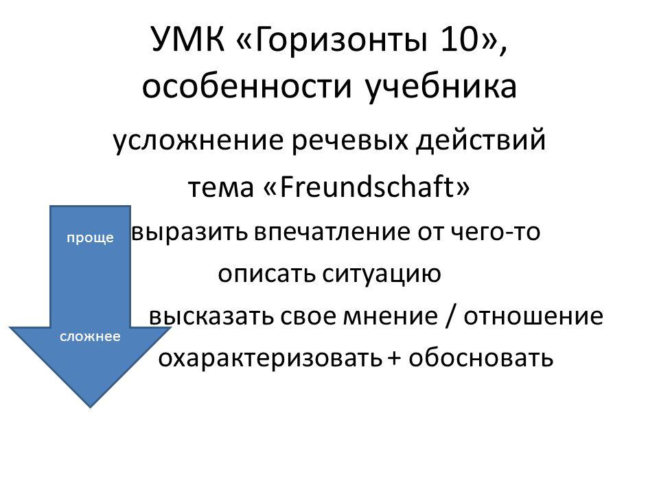 УМК «Горизонты 10», особенности учебника