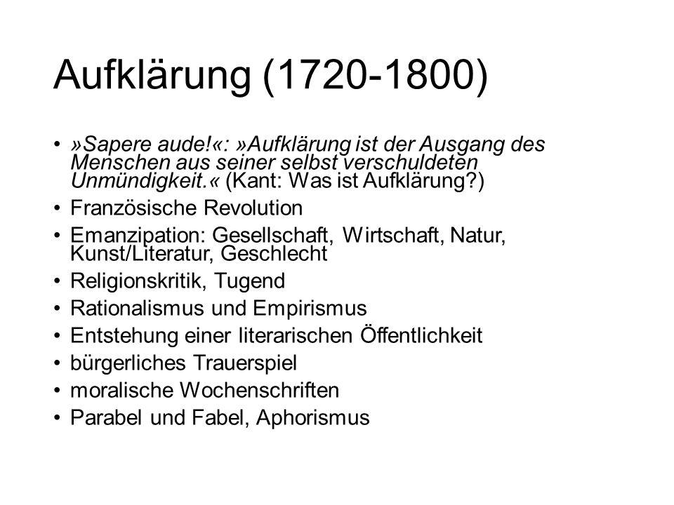 Aufklärung (1720-1800)