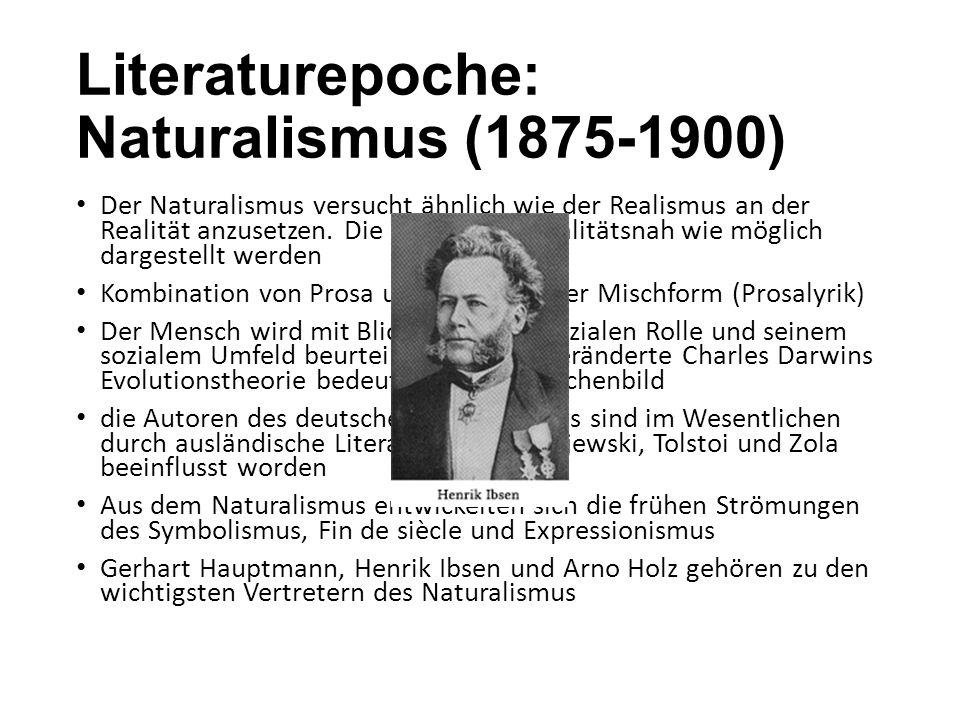 Literaturepoche: Naturalismus (1875-1900)