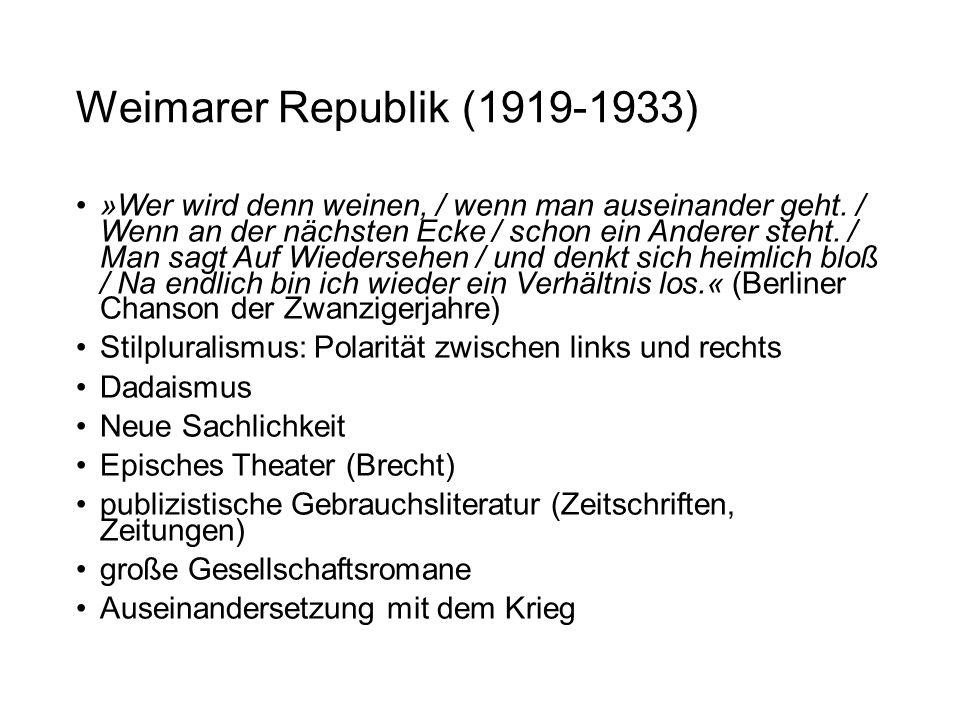 Weimarer Republik (1919-1933)
